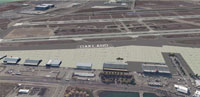 Aerial view of Oakland International Airport scenery.