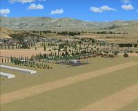 Screenshot of Omarama Airfield scenery.
