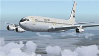 Screenshot of Omega Air Tanker Transport 707-320ADV in flight.