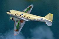 Screenshot of One Sky One World Douglas DC-3 in flight.