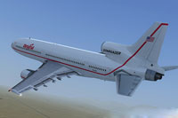 Screenshot of Orbital Sciences Corp. Lockheed L-1011 in flight.