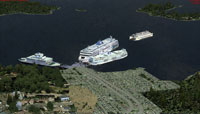Aerial view of British Columbia Ferries.