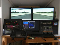 Photo of a multi-monitor setup.
