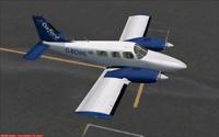 Screenshot of Oxford AA Piper Seneca II G-BOWE on runway.