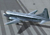 Screenshot of Ozark Airlines Convair 240 taxiing to runway.