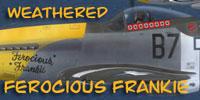 Screenshot of the P-51D Mustang 'Ferocious Frankie' texture.