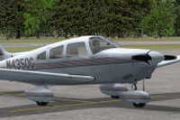 Screenshot of PA-28 Archer N4350G on the ground.