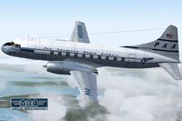 Screenshot of PAA Convair N90656 in flight.