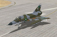 Screenshot of PAF Mirage IIIEP on runway.