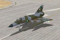 Screenshot of PAF Mirage IIIEP on runway.