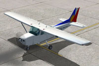 Screenshot of PAL Aviation School Cessna 172 on the ground.