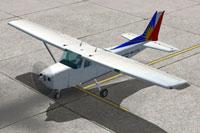 Screenshot of PAL Aviation School Cessna 172SP om the ground.