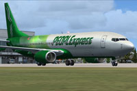 Screenshot of PEOPLExpress Boeing 737-400 on the ground.