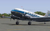 Screenshot of PLUNA Douglas DC-3 on the ground.
