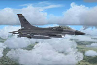 Screenshot of F-16 198TH in flight.