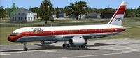 Screenshot of PSA Boeing 757-200 on runway.