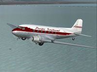 Screenshot of PSA Douglas DC-3 in flight.