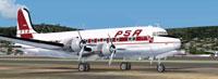 Screenshot of PSA Douglas DC-4 on the ground.