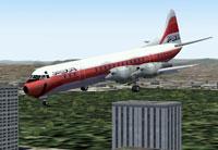 Screenshot of PSA Lockheed L-188 Electra in flight.