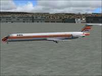 Screenshot of PSA McDonnell Douglas MD-82 on the ground.