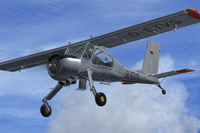 Screenshot of PZL-104 Wilga 35 D-ETVS in flight.