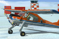 Screenshot of PZL-104 Wilga in polar livery.