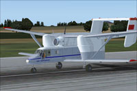 Screenshot of PZL M-15 Belphegor on runway.