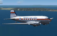 Screenshot of Pacific Airlines Douglas DC-3 in flight.