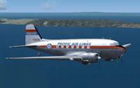 Screenshot of Pacific Airlines Douglas DC-3 in flight.
