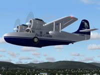 Screenshot of Pacific Coastal Airlines Grumman G21 in flight.