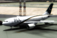 Screenshot of Pakistan International Airlines A310 on the ground.