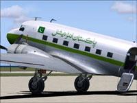 Screenshot of Pakistan International Douglas DC-3 on the ground.