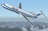 Screenshot of Pan Am Boeing 727-200 in flight.