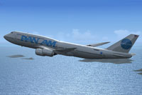 Screenshot of Pan Am Boeing 747-8i in flight.
