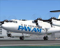Screenshot of Pan Am DHC Dash-7 taking off.