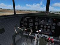 Screenshot of a clean Pan Am Douglas DC-3 cockpit.