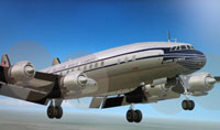 Screenshot of Pan Am Super C Constellation in flight.
