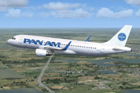 Screenshot of Pan American Airbus A320NEO CFM in flight.