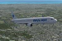Screenshot of Pan American Airbus A321NEO CFM in flight.