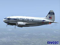 Screenshot of Pan American Airways Curtiss C-46A in flight.