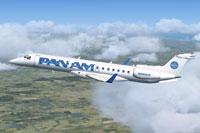 Screenshot of Pan American Embraer ERJ-145 in flight.