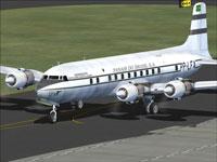 Screenshot of Panair do Brasil Douglas DC-6A on the ground.