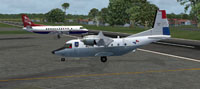 Screenshot of Panama San-255 CASA C212-300 on the ground.