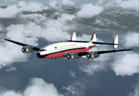 Screenshot of Paradise Airlines L-049 Constellation in flight.