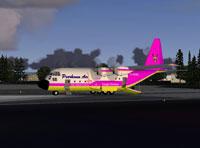 Peerhoven Fairchild C119 preparing for take-off.