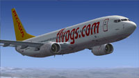 Screenshot of Pegasus Airlines Boeing 737-82R with the registration TC-AAS.