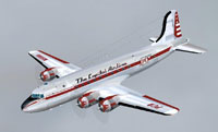 Screenshot of Penn Central Douglas DC-4 in the air.