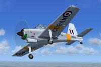 Screenshot of Percival Provost WV602 in flight.