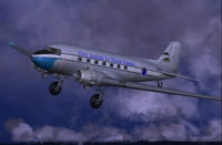 Screenshot of Perry Institute Douglas DC-3 in flight.