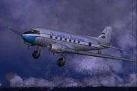 Screenshot of Perry Institute Douglas DC3 in flight.